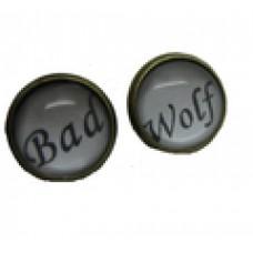 Доктор Кто серьги Bad wolf