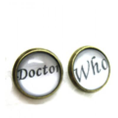 Доктор Кто серьги DW