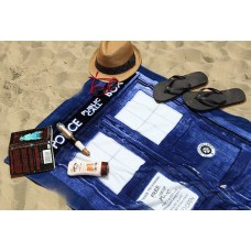 Пляжное полотенце Тардис