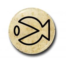 Значок Символ Стэна Пакман Контур на Пергаменте