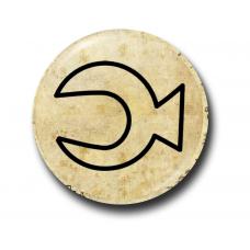 Значок Символ Стэна Полумесяц Контур на Пергаменте