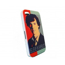 Чехол для iPhone 4/4s Believe in Sherlock